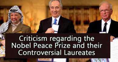 Criticism regarding the Nobel Peace Prize and their Controversial Laureates