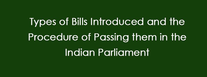 Types of Bills Introduced