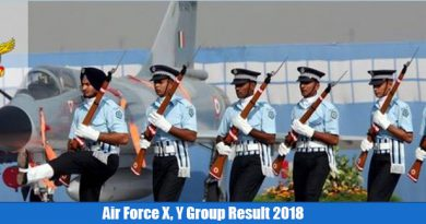 Air Force X, Y Group Result 2018