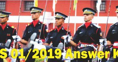 CDS 01/2019 Answer Key