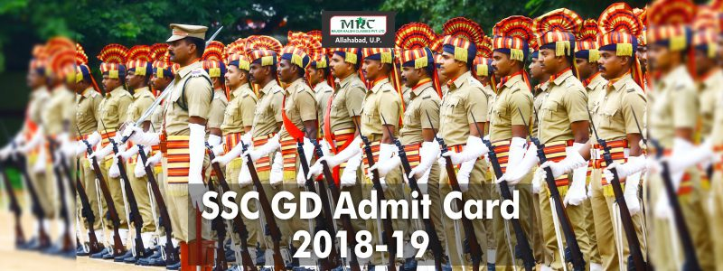 SSC GD Admit Card 2018-19