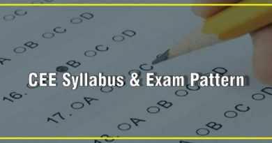 CEE Syllabus & Exam Pattern