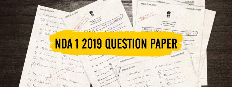 NDA 1 2019 Question Paper