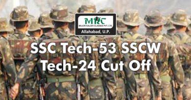 SSC Tech - 53 SSCW Tech – 24 Cut Off