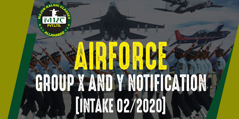 Airforce Group X and Y Notification