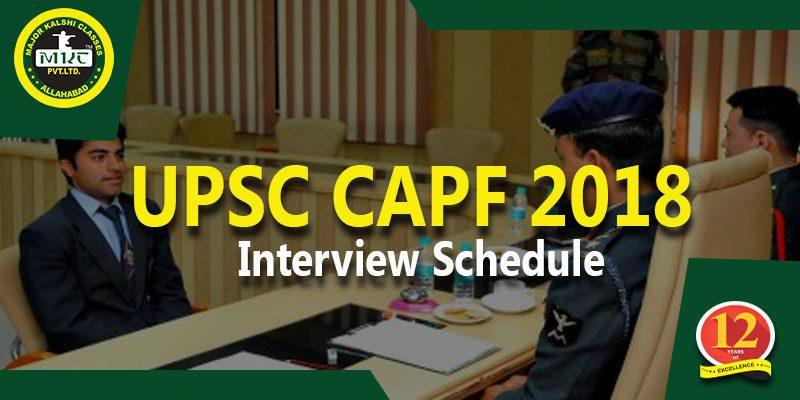 CAPF interview 2018