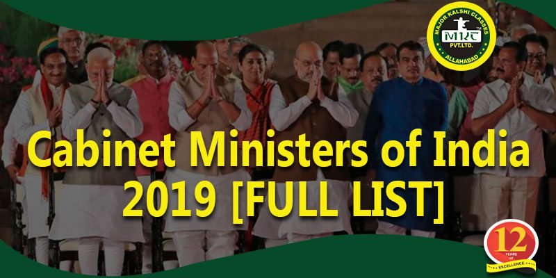 Cabinet Ministers of India 2019