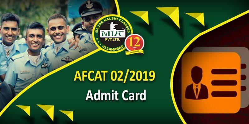 AFCAT 02 2019 Admit Card