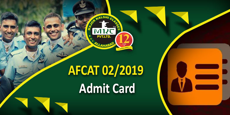 AFCAT 02 2019 Admit Card