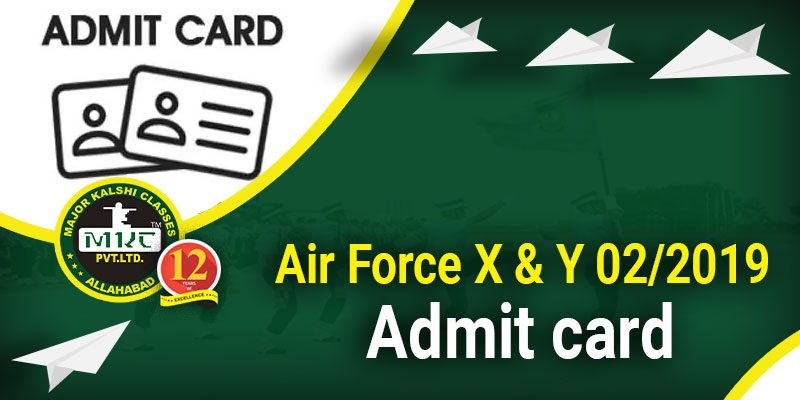 Airforce X and Y Group Admit Card