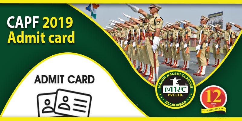 CAPF admit card 2019