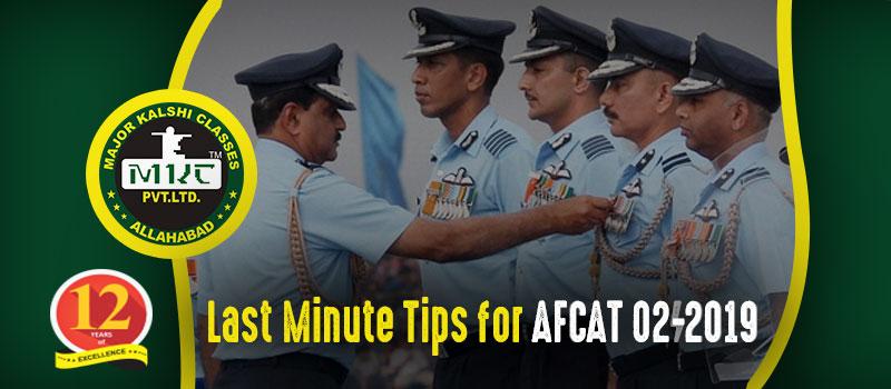 Tips for AFCAT 2 2019 Exam
