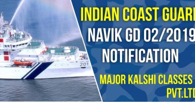 Indian Coast Guard Navik GD 02/2019 Notification