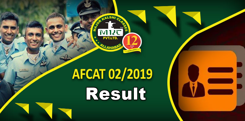AFCAT 2 2019 Result Available Now