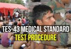 TES-43 Medical Standard Test Procedure (10+2 Technical Entry Scheme)