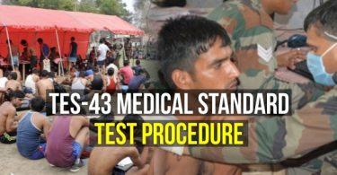 TES-43 Medical Standard Test Procedure (10+2 Technical Entry Scheme)