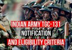 Indian Army TGC-131 Notification, Eligibility Criteria for July 2020