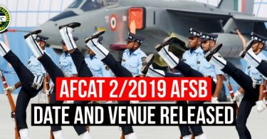 AFCAT 2/2019 AFSB Date and Venue Released, How to select AFCAT AFSB Slot