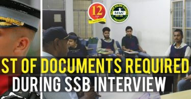 List of Documents required for SSB Interview