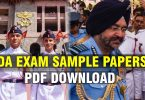 NDA Sample Papers PDF Download