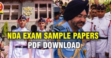 NDA Sample Papers PDF Download