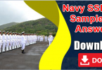 Navy SSR and AA Sample Paper, Answer Key Pdf Download