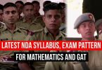 Latest NDA Syllabus, Exam Pattern For Mathematics and GAT