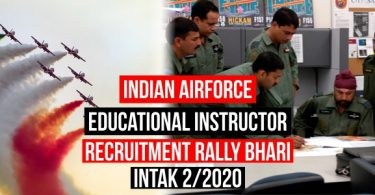 Indian Airforce Educational Instructor Recruitment Rally As Airmen