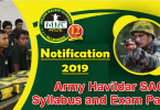 Army Havildar SAC Syllabus and Exam Pattern