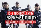 10+2 Technical Entry Scheme Eligibility Criteria, Marks Percentage for TES