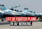 List of Fighter Planes of Indian Air Force in Service