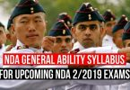 NDA General Ability Syllabus for Upcoming NDA 2/2019 Exams