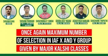Once Again Maximum Selection in IAF X and Y Group Given by Major Kalshi Classes