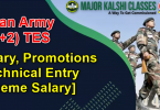Indian Army (10+2) TES Salary, Promotions