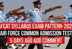 AFCAT Syllabus Exam Pattern-2020 | Air Force Common Admission Test |