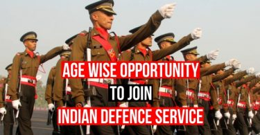 Age Wise Defence Examinations Opportunity