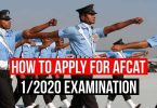 AFCAT 1/2020 Exam Application Form and How to apply for AFCAT 2020