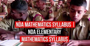 NDA Mathematics Syllabus | NDA Elementary Mathematics Syllabus