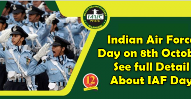 Indian Air Force Day on 8th October See full Detail About IAF Day