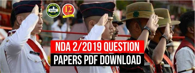 NDA 2/2019 Question Paper Download in PDF