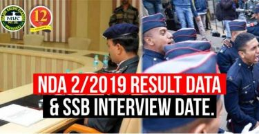 NDA 2/2019 Result Date And SSB Interview Date