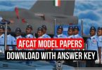 AFCAT Sample Paper with Answer Key