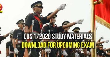 CDS 1/2020 Study Material Download for Upcoming Exam