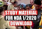 Study material for NDA 1/2020 Download