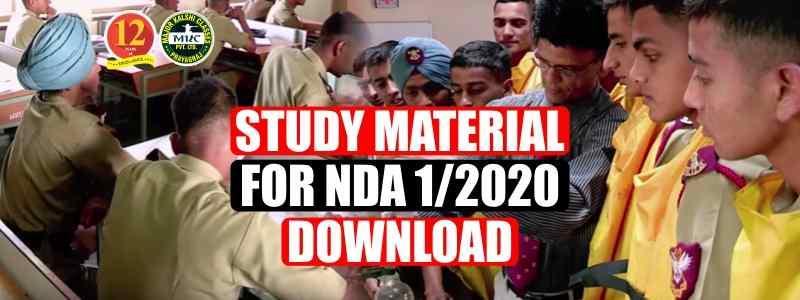 Study material for NDA 1/2020 Download