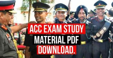 ACC Exam Study Material Pdf Download