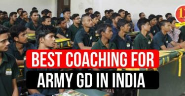 Best Coaching for Army GD in India