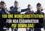 100 One Word Substitution for NDA Examination Pdf Download