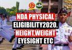 NDA Physical Eligibility 2020, Height, Weight, Eyesight etc
