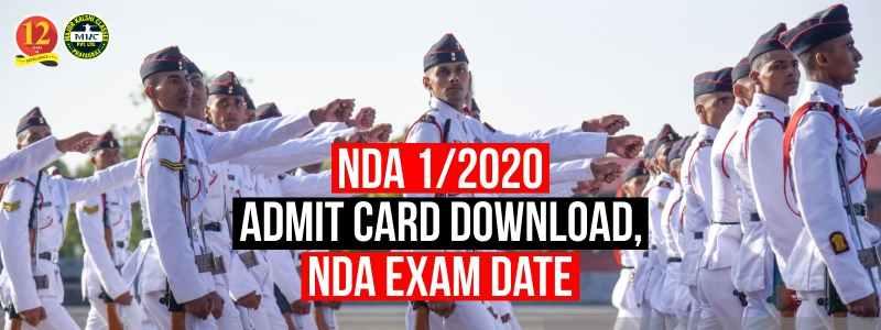 NDA 1/2020 Admit Card Download, NDA Exam Date